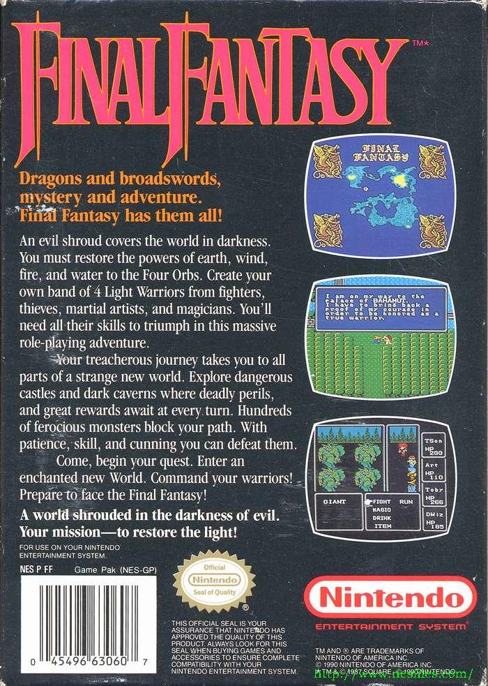 Final fantasy i & ii – video games are rad.
