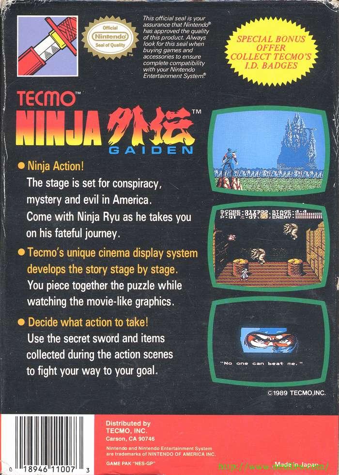 Ninja Gaiden For Nes The Nes Files