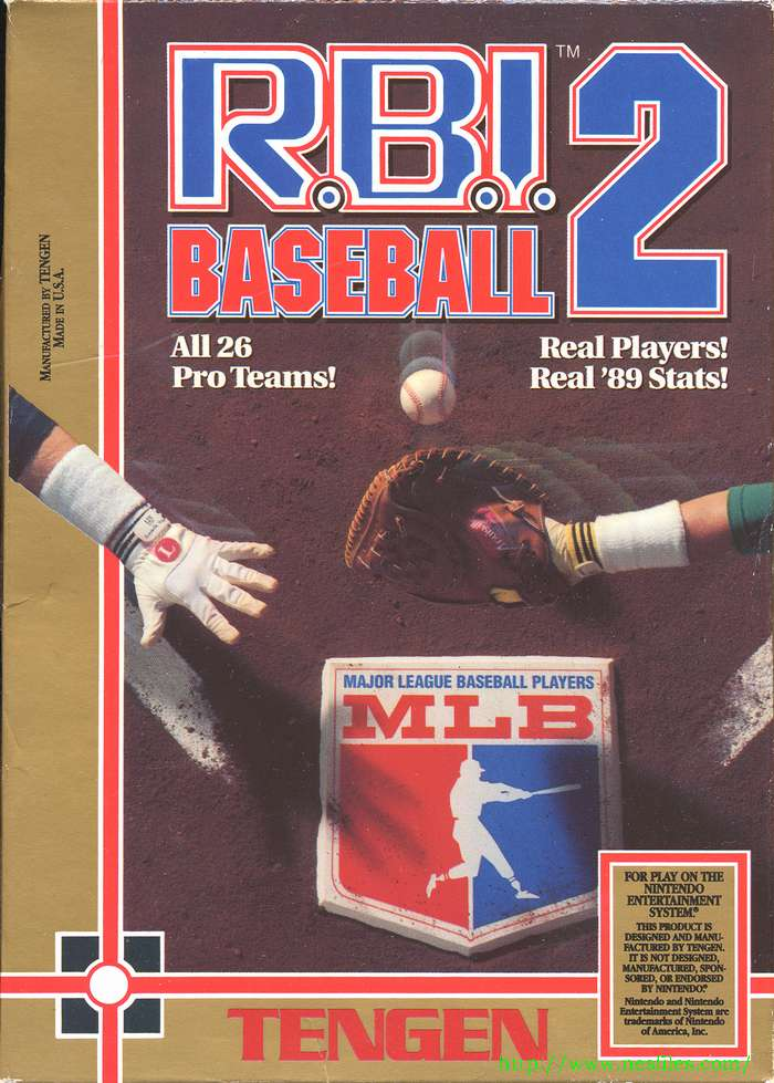 RBI Baseball 2 For NES