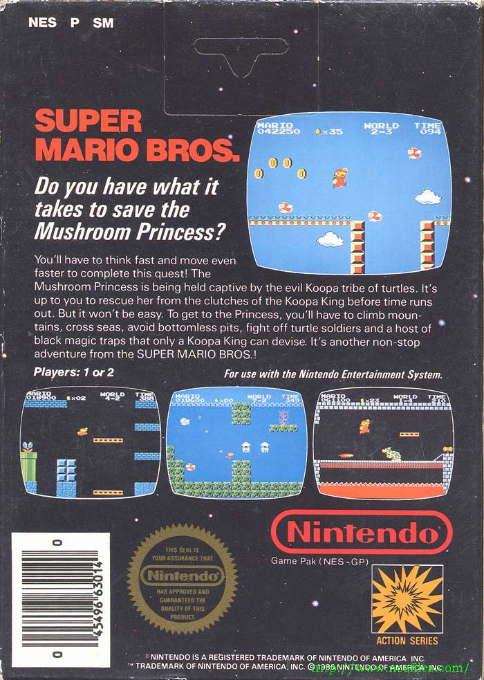 Super Mario Bros  for NES - The NES Files