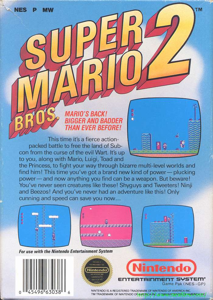 Super Mario Bros  2 for NES - The NES Files