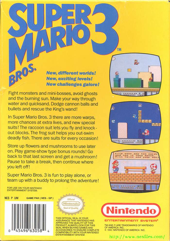 Super Mario Bros  3 for NES - The NES Files