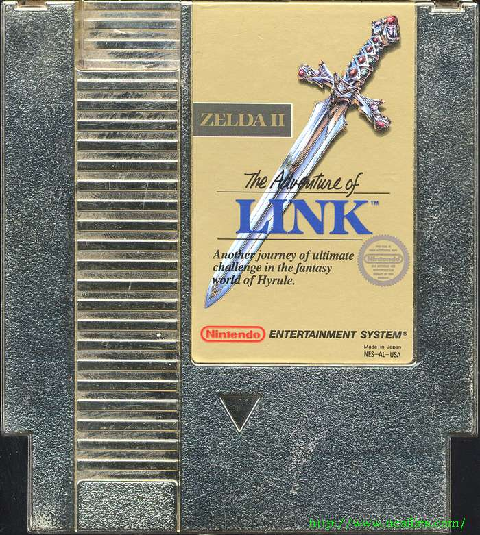 Silver and gold carts - Zelda II: The Adventure of Link Message